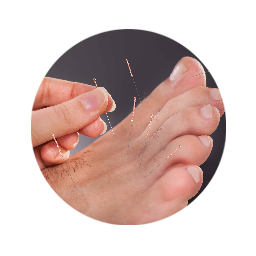 Relaxing acupuncture being performed on a client