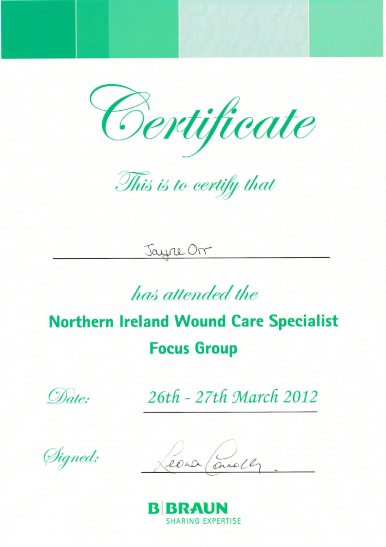 Wound Care Certificate